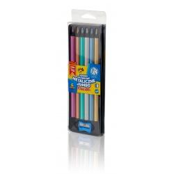 ASTRA Metalické farbičky z čierneho dreva 6ks + strúhadlo, 312118007