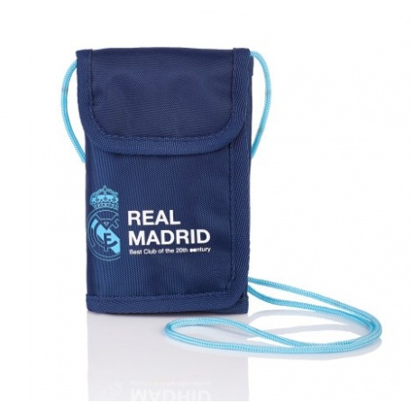 Puzdro na krk   peňaženka REAL MADRID Blue 51c53925fe9