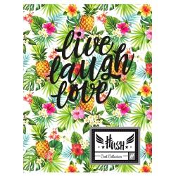 Zošit A5 HASH® Pineapple, HS-29, 60 listov, štvorčekový (5x5mm), 565