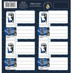 Samolepiace štítky na zošity 8ks REAL MADRID, RM-107, 708017003