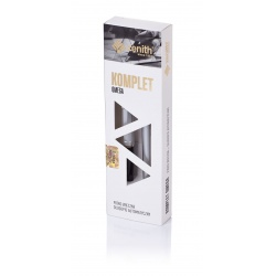 ZENITH Metallic, Guľôčkové pero 0,8mm + Plniace  pero, krabička, strieborná, 7120602