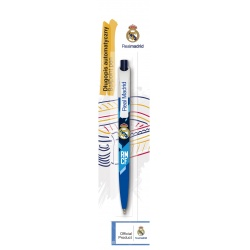 Guľôčkové pero 0,7mm REAL MADRID, modré, blister, 201018002