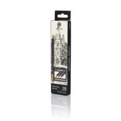 ARTEA Umelecká skicovacia šesťhranná ceruzka, tvrdosť 2B, 206118003