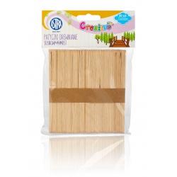 CREATIVO Drevené špachtle (nanukové paličky), 11,4cm, prírodné, 50ks, 335119021