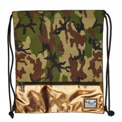 Luxusné vrecúško / taška na chrbát HASH®, Gold Army, HS-127, 507019015