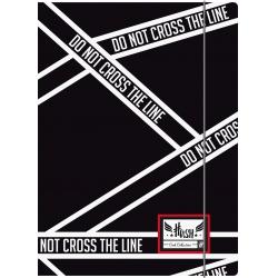 HASH® Odkladacia mapa s 3 chlopňami a gumičkou, A4, Cross Line, HS-145, 108019017