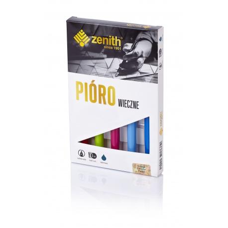 ZENITH Omega Pastel, 5ks Plniace pero + náplň, mix farieb, krabička, 10560500