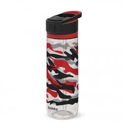QUOKKA QUICK SIP Športová plastová fľaša s výsuvným náustkom CAMO 830ml, 06960