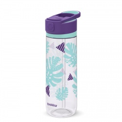 QUOKKA QUICK SIP Športová plastová fľaša s výsuvným náustkom TROPICOOL 830ml, 06963