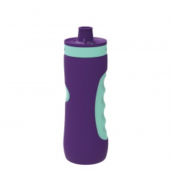 QUOKKA SWEAT Športová plastová fľaša AQUA VIOLET 680ml, 06972