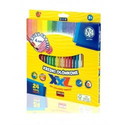 ASTRA Šesťhranné farbičky s XXL tuhou 24ks + strúhadlo, 312120004