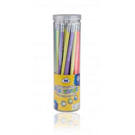 ASTRA Pastel, obyčajná HB ceruzka s merítkom a  gumou, stojan, 206120006