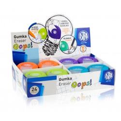 ASTRA OOPS! Ergonomická guma 2v1, na ceruzky aj perá, mix farieb, krabička, 403120003