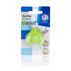 ASTRA OOPS! Ergonomická guma 2v1, na ceruzky aj perá, zelená, blister, 403120004