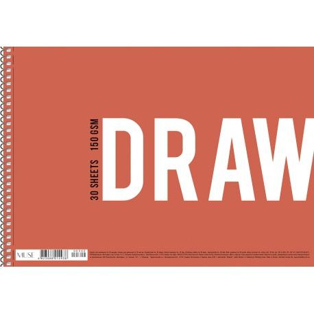Náčrtník v špirálovom bloku SHKOLYARYK® A4, 30 listov, 150g/m2, mix motívov, 106020013