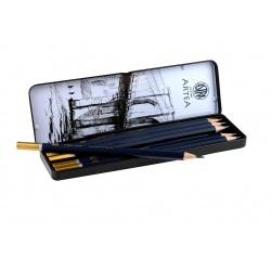 ARTEA Umelecké skicovacie ceruzky v plechovej krabičke, sada 6ks, 3B - 2H, 206118001