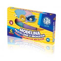 ASTRA Modelovacia hmota do rúry MODELINA pastelová s trblietkami 6ks, 304118001