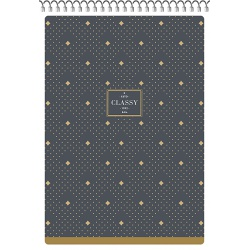 SHKOLYARYK® Dizajnový blok so špirálou A5, 80 listov, štvorčekový, mix motívov, 104020023