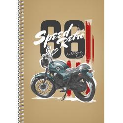 SHKOLYARYK® Dizajnový blok so špirálou A5, 96 listov, štvorčekový, mix motívov, 107020003
