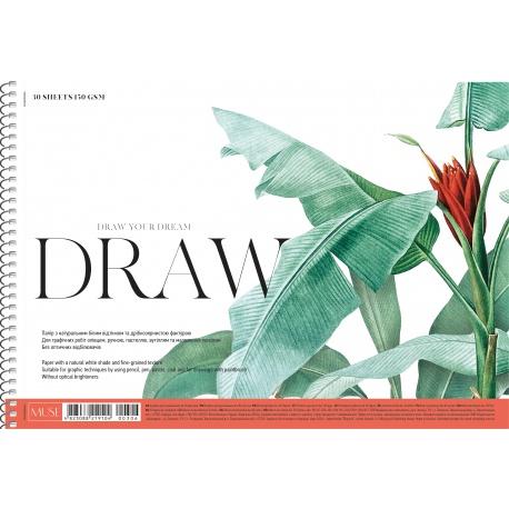 Náčrtník v špirálovom bloku SHKOLYARYK® A4, 30 listov, 150g/m2, mix motívov, 106020035