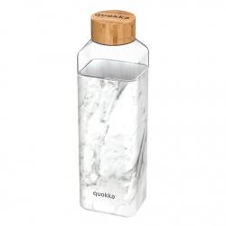 QUOKKA STORM Sklenená fľaša so silikónovým povrchom MARBLE, 700ml, 40020