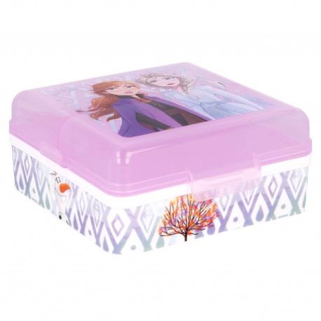 Delený plastový box na desiatu DISNEY FROZEN, 51093