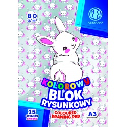 ASTRA farebné papiere  A3, 15 listov, 80g/m2, mix motívov, 106021005
