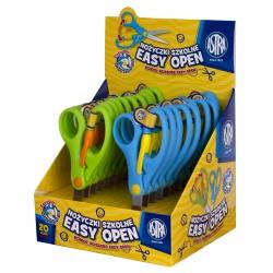 ASTRA Školské ergonomické nožnice s odpružením, 13cm, stojan, mix farieb, 407120001