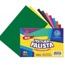 ASTRAPAP Vlnitý papier / lepenka, A4, 10 ks, mix farieb, 113021001
