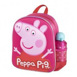 Súprava / Detský 3D batoh + Športová hliníková fľaša PEPPA PIG, 2100003590