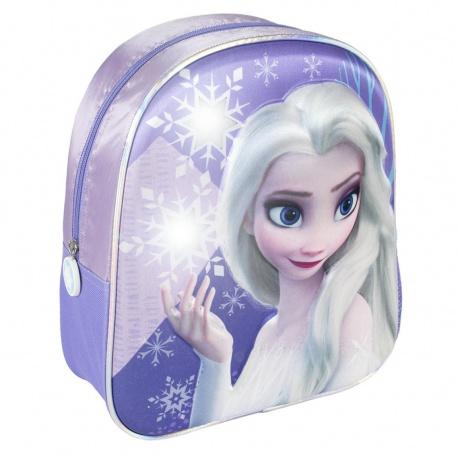 Detský svetielkujúci 3D batoh DISNEY FROZEN, 2100003444