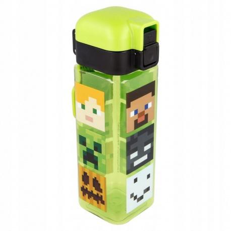 Hranatá plastová fľaša MINECRAFT LOCK, 550ml, 40402