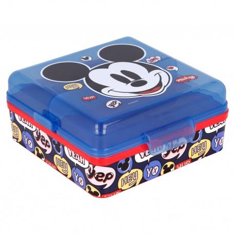 Delený plastový box na desiatu MICKEY MOUSE, 50193