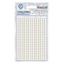CREATIVO Dekoračné samolepiace perličky, 6 mm, 266 ks, BIELA, 335118013